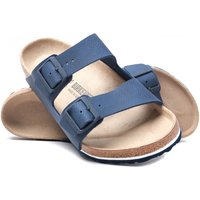 Birkenstock Arizona Desert Soil Blue Leather Sandals