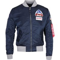 Alpha Industries MA-1 Mission To Mars Navy Blue Bomber Jacket