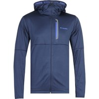 Columbia Tech Trial Lightweight Zip Through Navy Hoodie
