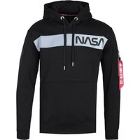 Alpha Industries Reflective NASA Stripe Black Hoodie