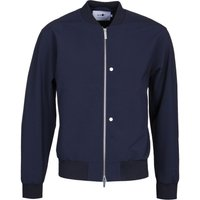 NN07 Pires 1352 Wool Blend Navy Bomber Jacket