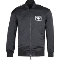 Emporio Armani Eagle Brand Graphic Black Bomber Jacket