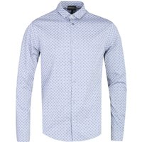 Emporio Armani All-Over Eagle Logo Custom Fit Grey Shirt
