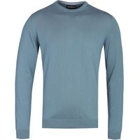 Emporio Armani Arm Patch Steel Blue Sweater