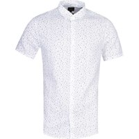 Armani Exchange Slim Fit Scribble Print White Shirt