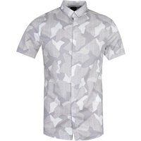 Armani Exchange Regular Fit Short Sleeve Branded Camo Grey Shirt