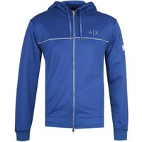 Armani Exchange Reflective Detail Electric Blue Zip-Through Hoodie