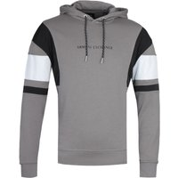 Armani Exchange Colour Block Detail Grey Pullover Hoodie
