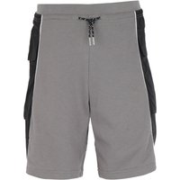 Armani Exchange Colour Block Grey & Black Sweat Shorts