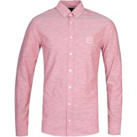 BOSS Masboot Slim Fit Long Sleeve Light Red Cotton Shirt