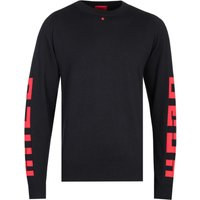 HUGO Scribbon Brutallism Black Logo Knitted Sweater
