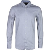 BOSS Lukas 53 Regular Fit Navy & White Patterned Long Sleeve Shirt