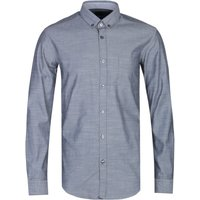 BOSS Rikard Chambray Slim Fit Charcoal Grey Shirt