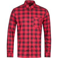 HUGO Ermann Straight FIt Red Checked Long Sleeve Shirt
