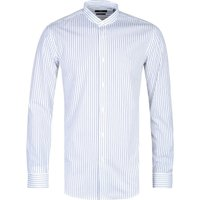 BOSS Formal Jordi Henley Slim Fit White Stripe Shirt