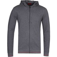 HUGO Daple 202 Charcoal Grey Zip-Through Hoodie
