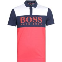 Boss Athleisure Pavel Contrast Panel Navy, Red & White Polo Shirt