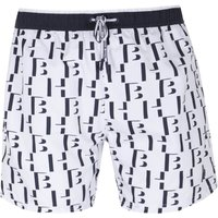 BOSS Seahorse HB Monogram White Swim Shorts