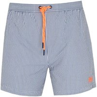 BOSS Velvetfish Pin Stripe Blue Swim Shorts