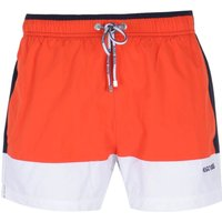 BOSS Bodywear Filefish Cut & Sew Navy, Orange & White Swim Shorts