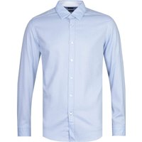 BOSS Lukas Fine Dot Patterned Long Sleeve Blue Shirt