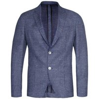 BOSS Nold Slim Fit Fine Checked Open Blue Suit Jacket