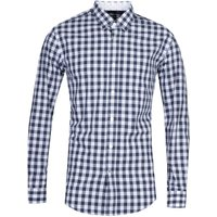 BOSS Ronni_53 Slim Fit Dark Navy Check Shirt