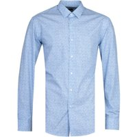BOSS Elliot Micro Floral Print Regular Fit Blue Shirt