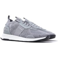 BOSS Titanium Runn Light Grey Knit Trainers