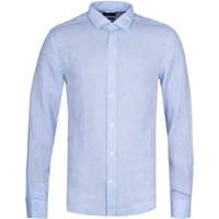 BOSS Joy Slim Fit Light Blue Linen Shirt
