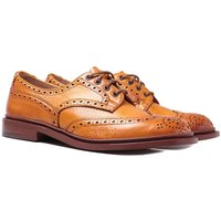 Tricker's Bourton Acorn Muflone Burnished Derby Leather Brogue Shoes