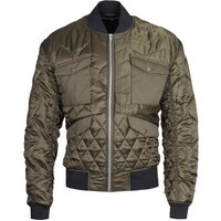 MCQ Alexander McQueen Military Green Quilted Bomber Jacket