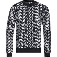 MCQ Alexander McQueen All-Over MCQ Print Black Sweater