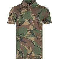 Polo Ralph Lauren Custom Slim Fit Green Camo Polo Shirt