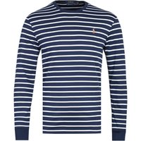 Polo Ralph Lauren Custom Slim Fit Long Sleeve Navy & White Striped T-Shirt