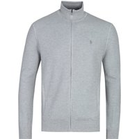 Polo Ralph Lauren Pima Cotton Zip-Through Grey Sweater