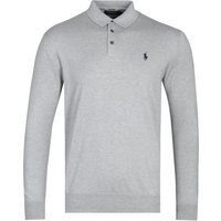 Polo Ralph Lauren Pima Cotton Long Sleeve Grey Marl Polo Shirt