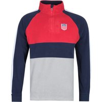 Polo-Ralph-Lauren-Grey-White-and-Navy-Zip-Neck-Fleece-Sweater