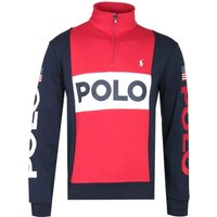 Polo-Ralph-Lauren-Navy-Red-and-White-Zip-Neck-Sweatshirt