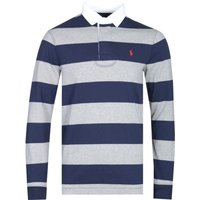 Polo Ralph Lauren Block Stripe Navy & Grey Rugby Shirt