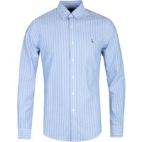 Polo Ralph Lauren Slim Fit Long Sleeve Blue Stripe Shirt
