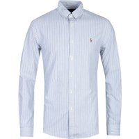 Polo Ralph Lauren Slim Fit Long Sleeve Grey Stripe Shirt