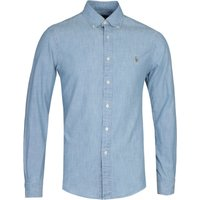 Polo Ralph Lauren Slim Fit Chambray Long Sleeve Blue Shirt
