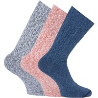 Red Wing 3 Pack Blue, Red & White Marl Socks