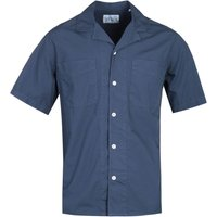 Albam Revire Collar Navy Short Sleeve Shirt