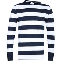 Albam Long Sleeve Wide Stripe Navy & White T-Shirt