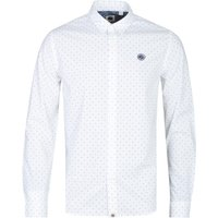 Pretty Green Slim Fit White Polka Dot Shirt