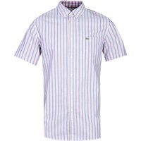 Lacoste Short Sleeve Regular Fit Blue & Red Striped Shirt