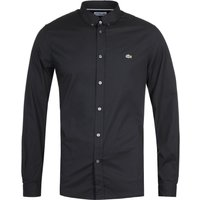 Lacoste Slim Fit Stretch Poplin Black Shirt