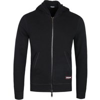 DSquared2 Black Logo Zip Through Hoodie
